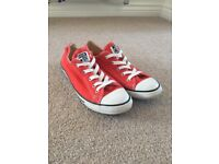 Red Converse Women's Size 6