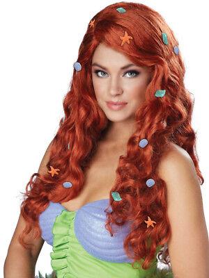Fantasy Mermaid Costume (Aquatic Fantasy Mermaid Women's Halloween Costume Wig, Womens Auburn Mermaid)