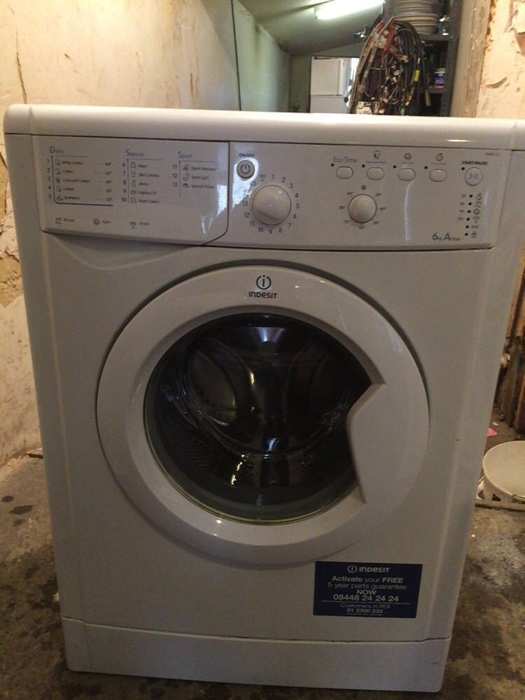 Indesit IWB6123 6kg 1200 Spin White A Rated Washing Machine 1 YEAR GUARANTEE FREE FITTING