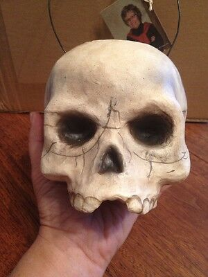 Bethany Lowe Skull Bucket Candy Container--retired