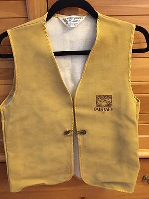 FALSTAFF Beer 1960's Bar Vest Size Small New Old Stock Never Worn!!