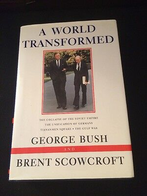 President George W  Bush Signed Book A World Transformed Autograph 1998