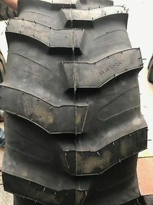Two New 19.5l-24 12 Ply Mrl Industrial Lug Tractor Loader Tire R4 Backhoe