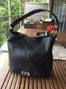 Oroton Handbag Mystical Hobo Shoulder Bag Leather Black Rrp 595