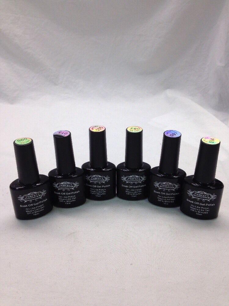 Perfect Summer Soak Off UV/LED Gel Nail Polish Set #15, 55,