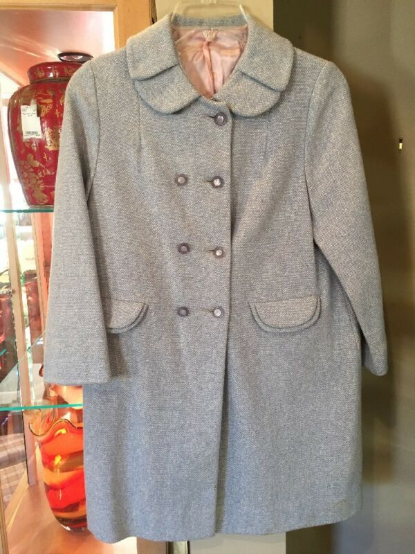 Vintage Childrens Powder Blue Coat
