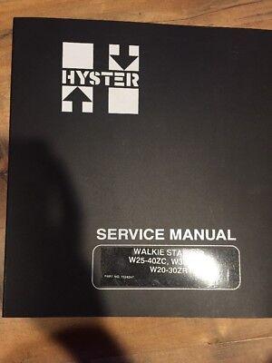 Hyster W25-40zc W30-40za W20-30zr Walkie Stacker Service Manual 1524247