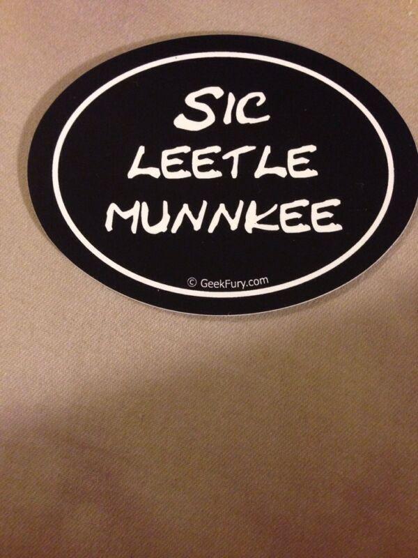 Sic Leetle Munnkee Bumper Sticker