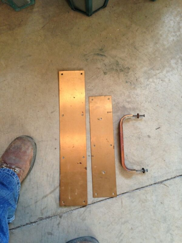 Vintage Brass Pull And Pushplates Hd    25 16 AvailAble $55.00each