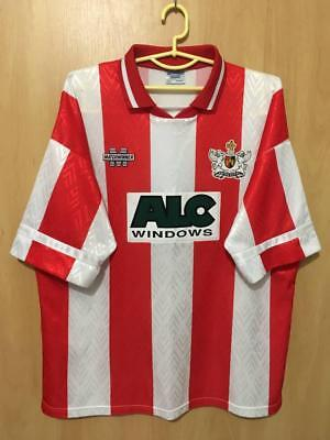 EXETER CITY ENGLAND 1994/1995 HOME FOOTBALL SHIRT JERSEY VINTAGE MATCHWINNER image