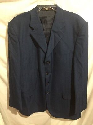 Giorgio Cosani Italy Men's Blue Striped Suit Jacket Blazer Size Sz 44R