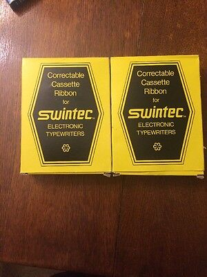 Lot Of 2 Swintec Correctable Typewriter Ribbons Black