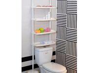 4 Tier Kitchen Bathroom Storage Shelf Unit - Adjustable Height No Screws Required