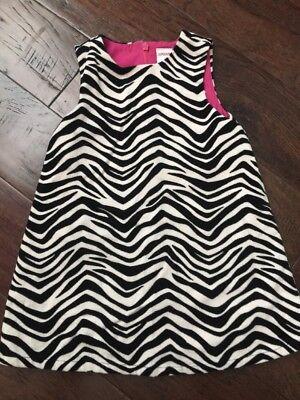 Gymboree Wild One Black And White Zebra Dress 2T Wild One Black Zebra