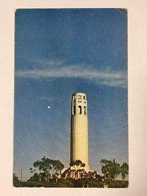 Tower Telegraph Hill (Coit Tower on Telegraph Hill San Francisco, California CA Chrome Postcard Unused)