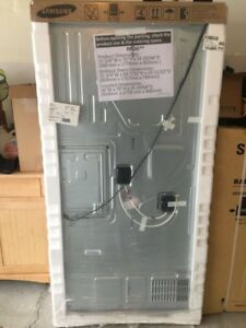 Samsung appliances ; dryer, washer, refrigerator, and stove