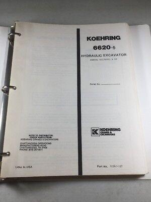 Koehring 6620-5 Hydraulic Excavator Parts Catalog Manual
