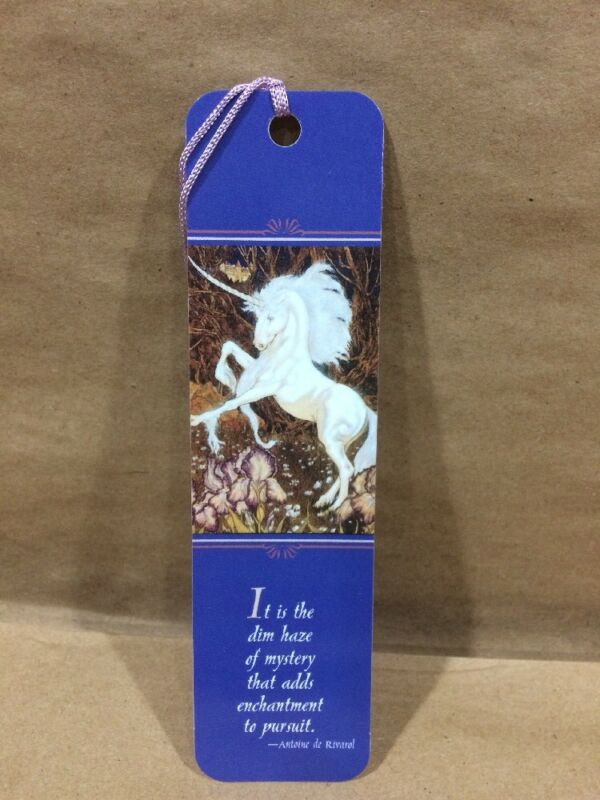 Bookmark Unicorn It is the dim haze of mystery that adds enchantment to pursuit