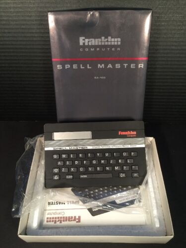 Franklin Computer Spell Master SA-103 Linguistic Technology With Box