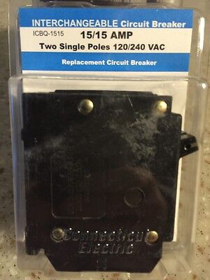 Interchangeable Packaged Circuit Breaker-15A ICBQ-1515 CIRCUIT BREAKER