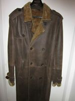 MENS LUXURY ANDREW MARC NEW YORK SHEARLING SHEEPSKIN COAT SIZE M
