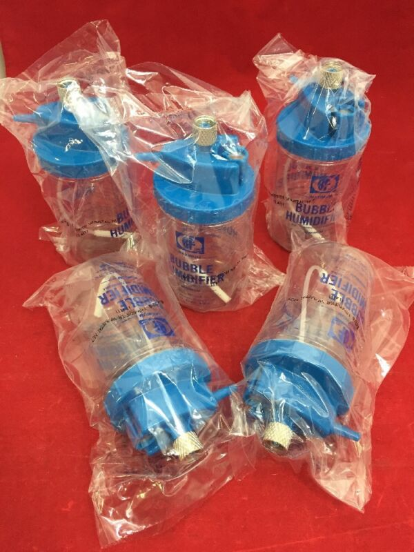 New Lot Of 5 B&f Medicalbubble Humidifier W/metal Nut 64379