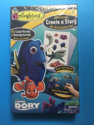 Colorforms Brand FINDING DORY Create a Story Re-Stickable Se