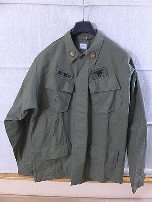 US ARMY VIET NAM Feldjacke coat mans cotton rip-stop LARGE mit Patches