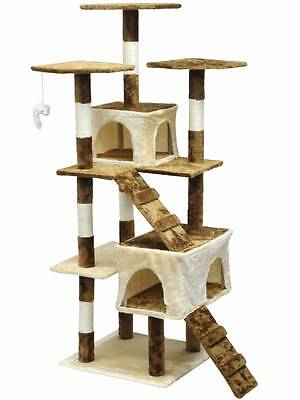 Homessity Cat Tree House Condo Bed Scratching Post Furniture HC-002