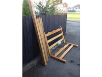 PINE DOUBLE BED FRAME ** FREE DELIVERY IS AVAILABLE TONIGHT **