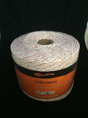 Gallagher G62176 Electric Turbo Equibraid Rope 1312-feet White