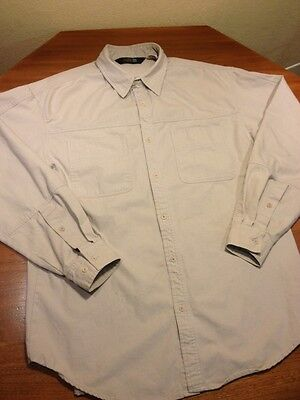 VINTAGE THE NORTH FACE LS CANVAS COTTON STONE SHIRT MEN LARGE,CAMP,HIKING North Face Mens Stone