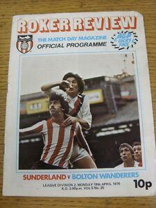 19-04-1976-Sunderland-v-Bolton-Wanderers-Creased-Worn-Marked