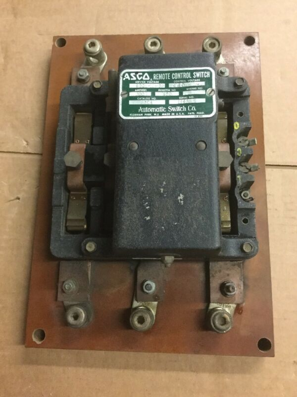 Asco 927 Bulletin 9204 Remote Control Switch 100A 600V with 480V Coil