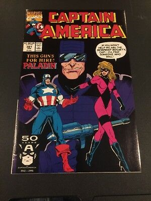 CB3 Captain America #381 (Jan 1991, Marvel) 50 Years Of Captain America