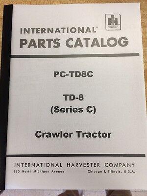 Dresser Ih International Td8c Crawler Tractor Parts Book Manual Form Tc-142 Low