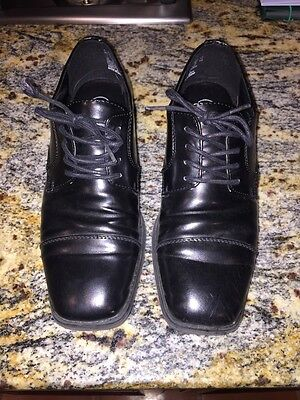 TKS Shoes Boys Sz 6 Black With Shoelaces Dress Wedding Or 1st. Communion](Boys First Communion Shoes)