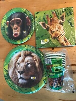 Animal Planet Party Supplies For 8 Guests Plates - Animal Planet Party Supplies