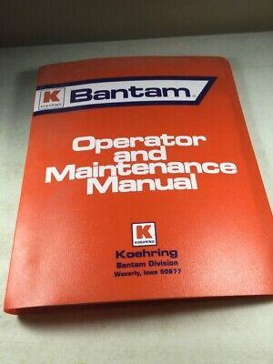 Koehring S-155 Hoekruiser Operators Manual