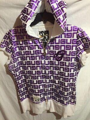 G-Unit Women's Purple White Shirt Sleeve Fashion Hoodie Jacket Size X Large XL  for sale  Lawrenceburg