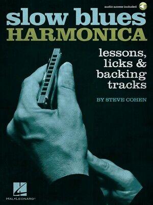 Slow Blues Harmonica Lessons Licks and Backing Tracks Harmonica Book 000289620