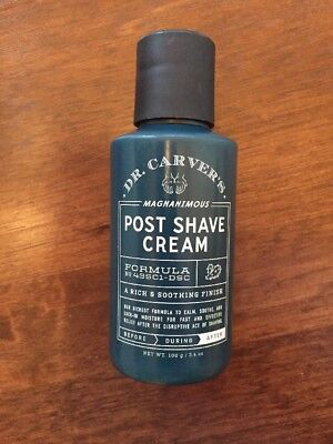 Dr  Carvers Magnanimous Post Shave Cream  3 4Oz   Dollar Shave Club