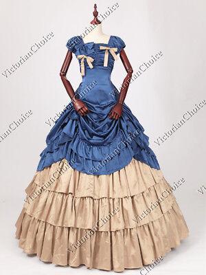 Victorian Southern Belle Masquerade Ball Gown Saloon Girl Halloween Dress  270