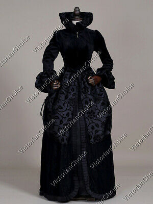 Costume Of Witch Halloween (Black Renaissance Evil Queen Game of Thrones Witch Dress Halloween Costume)