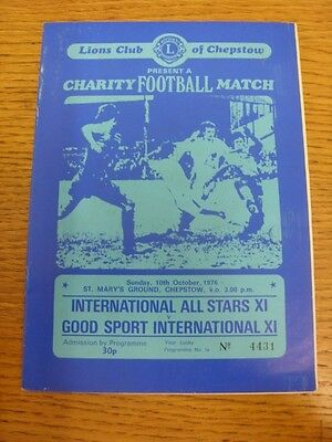 10 10 1976 At Chepstow Town  International All Stars Xi V Good Sport Internation