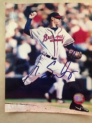 TIM SPOONEYBARGER Signed Autographed 8 X 10 Baseball Picture Single Auto Photo