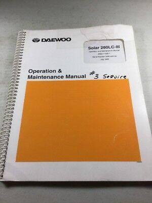 Daewoo Solar 280lc-3 Excavator Operation Maintenance Manual
