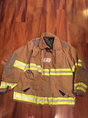 Firefighter Globe Turnout Bunker Coat 50x32 Gold Halloween Costume