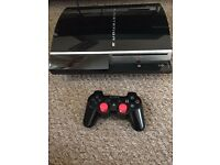 Sony PlayStation 3 60 GB Charcoal Black Console. Plus Games Vgc