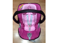 PURPLE/PINK CYBEX ATON Baby Car seat/Carrier suitable from birth